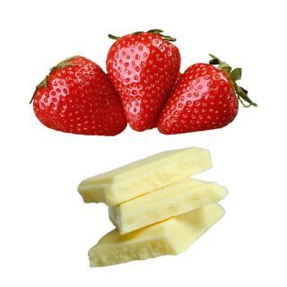 Erdbeeren in weißer Schokolade
