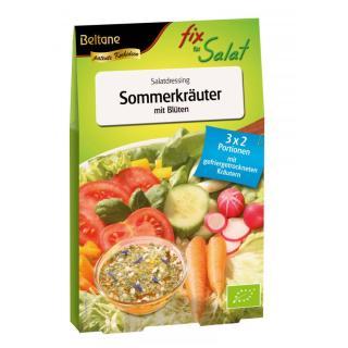 Fix Für Salat Sommerkräuter mit Blüten